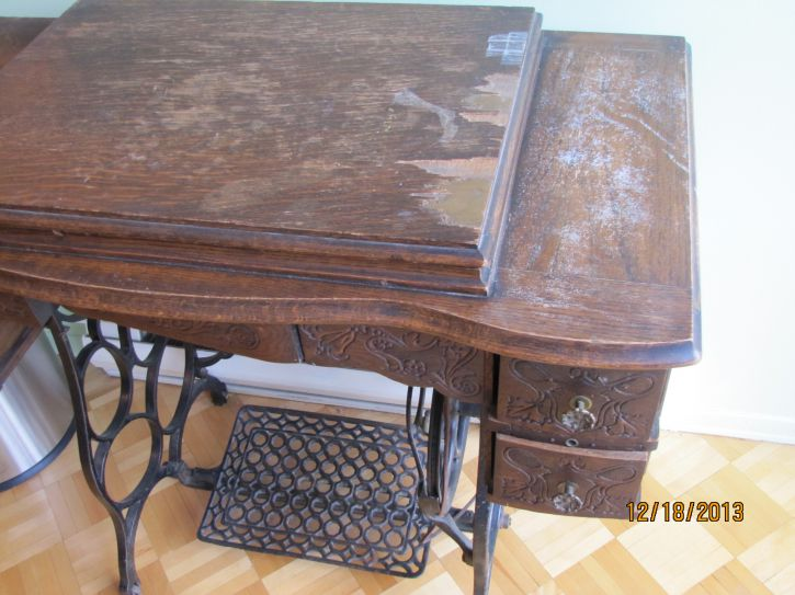 Meuble de machine a coudre antique achat vente for Meuble antique montreal