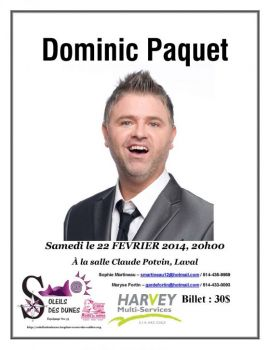 Dominic Paquet - Spectacle humour-thumb